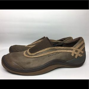 Merrell Slip On Leather Loafers shoes 7.5